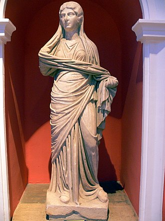 Julia Soaemias - A full-body statue of Soaemias, in the Antalya Archaeological Museum, Turkey