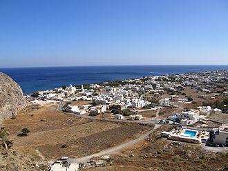Perissa, Santorini - View of Perissa.