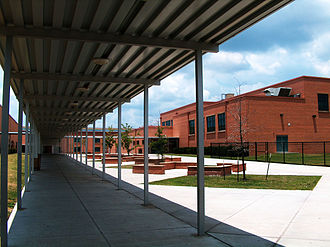 Pershing Middle School (Houston) - Rear of the campus