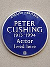 Peter Cushing 1913-1994 Actor lived here.jpg