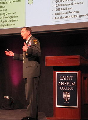 English: Petraeus at Saint Anselm College