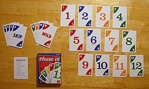 Amazing Cards Used In Phase 10 (original Version With Colored Wild And Skip Cards)