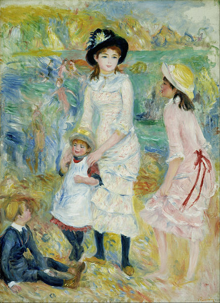 File:Pierre-Auguste Renoir - Children on the Seashore, Guernsey - Google Art Project.jpg