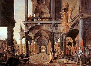 City Hall (Delft) - Image: Pieter van Bronckhorst oordeel van Salamo vierschaar Delft