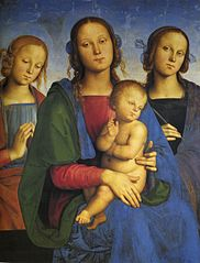 Madonna with child and two female saints
