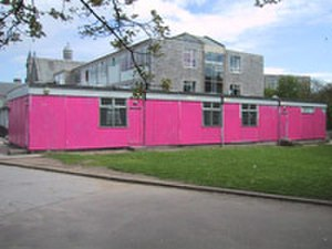 "Aberdeen Grammar School - The modular building that was painted pink as part of a prank on ""muck-up day"" in 2002"