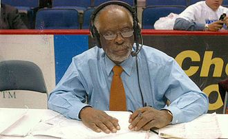 Ron Pinkney - Pinkney doing play by play at the MEAC Tournament, Hampton University 2005