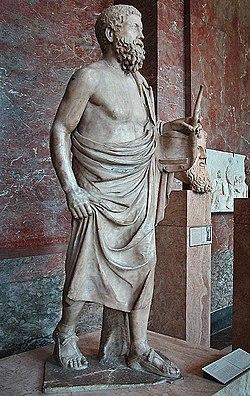 Pitagora da Reggio - Louvre - Statua di un suonatore di lira.jpg