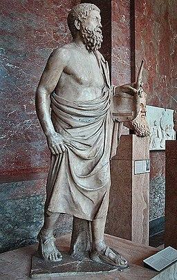 Pitagora da Reggio - Louvre - Statua di un suonatore di lira