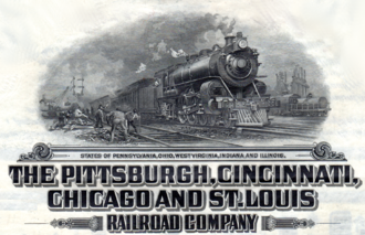 Pittsburgh, Cincinnati, Chicago and St. Louis Railroad - Pittsburgh, Cincinnati, Chicago, St. Louis Railroad bond, 1920, detail