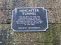 Plaque, Hincaster Tunnel - geograph.org.uk - 1726075.jpg