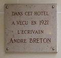 Plaque André Breton, 35 rue Delambre, Paris 14.jpg
