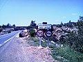 Plaque indiquant l'entrée du village oued chouly (oued lakhdar actuellement).jpg