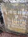 Plaque on the samadhi of H. Somappa, son-in-law of H. Koragappa at Gori Gudde, Attavar, Mangalore. Shri Koragappa went to Shri Narayana Guru in part to get his blessings for the recovery of his son-in-law from a serious illness.JPG
