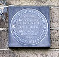Plaque on wall of No 34 Fulneck - geograph.org.uk - 375689.jpg