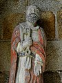 Plouha (22) Chapelle de Kermaria-an-Isquit Porche sud Apôtres 07.JPG