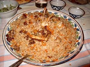 Uzbek cuisine - Plov (pilaf)
