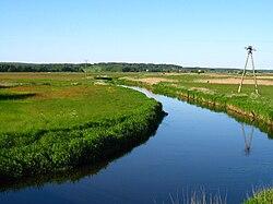 Podlaskie - Dobrzyniewo Duze - Biala river - bdg near Fasty - E.JPG