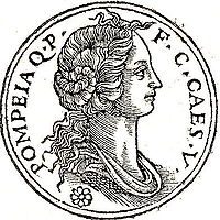 Pompeia as She Would Look on an Ancient Roman Coins