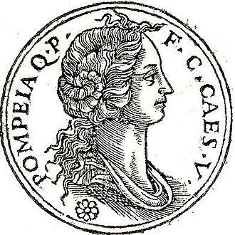 """Pompeia (wife of Caesar) - Pompeia from """"Promptuarii Iconum Insigniorum"""""""