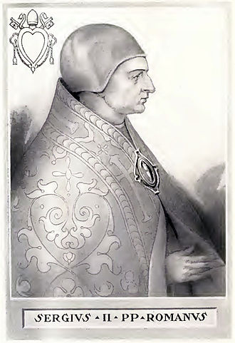 Pope Sergius II - Image: Pope Sergius II Illustration