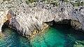 Porto Limnionas cave Zakynthos, Greece aerial (45753073644).jpg