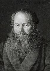 Portræt af zoologen, professor H.N. Krøyer, kunstnerens plejefader