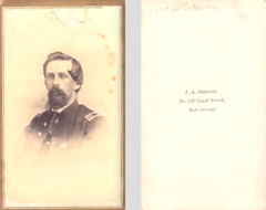 Portrait of man in uniform by J A Sheldon of New Orleans USA.png