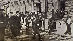 Bloody Sunday (1938) - Police cordon during eviction of demonstrators