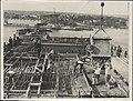 Pouring concrete on the southern platform of the Sydney Harbour Bridge, 1928 (8283752346).jpg