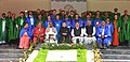 Pranab Mukherjee in a group photograph at the 2nd Convocation of Central University of Karnataka, at Kalaburagi, Karnataka on December 22, 2015. The Chief Minister of Karnataka, Shri K. Siddaramaiah is also seen.jpg