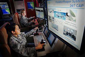 Aeronautical mobile-satellite (OR) service -  Remote control of a military drone via aeronautical mobile-satellite (OR)°° service