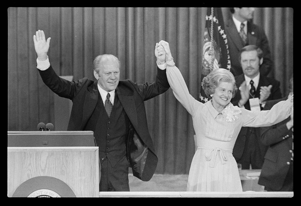 File President Gerald Ford And First Lady Betty Ford