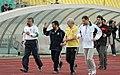 President Mahmoud Ahmadinejad, Iran's national football (soccer) team - 28 February 2006 (11 8412090596 L600).jpg