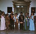 President Soeharto en echtgenote, HM, Bernhard, Beatrix, Claus, Margriet en echtgenoot in gala in Paleis.jpg