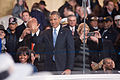 President and first lady wave to performers at 57th Inaugural Parade 130121-Z-QU230-271.jpg