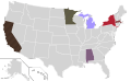 Presidential Candidate Home State Locator Map, 1968 (United States of America) (Expanded).png