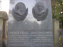 Presl brothers grave Vysehrad Cemetery Prague CZ 805.jpg