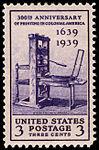 Printing Tercentenary 3c 1939 issue U.S. stamp.jpg