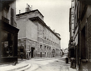 Sainte-Pélagie Prison - By Eugène Atget, Sainte-Pélagie prison in 1898, destroyed in May 1899.