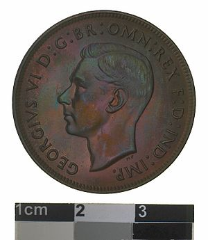 Penny (Australian coin) - Image: Proof Coin 1 Penny, Australia, 1945