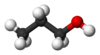 Ball and stick model of 1-propanol
