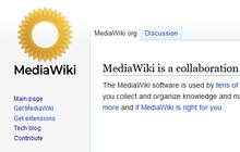 Proposed mediawiki logo (yellow translucent, capitalised) legacy vector.png