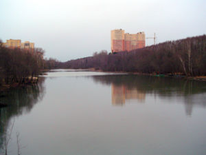 Pushkinsky District, Moscow Oblast - The Serebryanka River in the city of Pushkino, Pushkinsky District