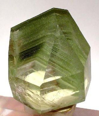 Chlorite group - Quartz crystal with chlorite inclusions from Minas Gerais, Brazil (size: 4.2 × 3.9 × 3.3 cm)
