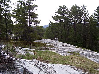 La Cloche Silhouette Trail - The even terrain of the mountain ridges belies the steep climbs and descents of the Hansen Township section.