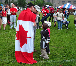 Greenfield Park, Quebec - Canada Day is celebrated annually at Empire Park.