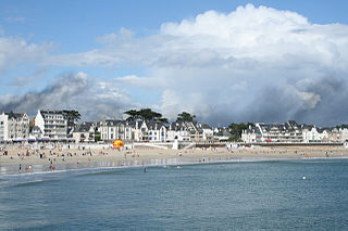 Quiberon Commune in Brittany, France