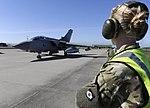 RAF Tornado GR4 aircraft Taxiing to Takeoff at RAF Lossiemouth (9522632809).jpg