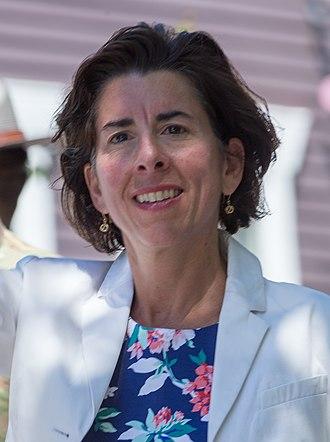 Governor of Rhode Island - Image: RI Governor Gina Raimondo Bristol parade (cropped)